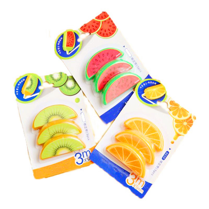 Cute Kawaii Plastic Correction Tape Creative Donut Fruit Corrector Tape Office School Supplies Korean Student Stationery Eraser цена