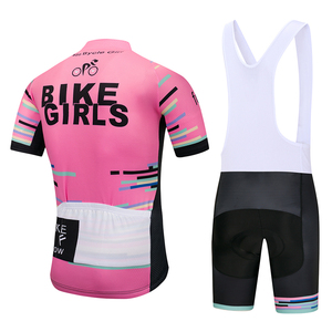 Image 2 - 2020 TEAM PRO Bike Girls cycling jersey bibs shorts suit Ropa Ciclismo women summer quick dry BICYCLING Maillot wear