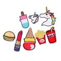 Hoomall 9 unids parches para aplicación ropa bolsa de los pantalones vaqueros de dibujos animados apliques de hierro en el bordado rayas unicornio accesorios de costura