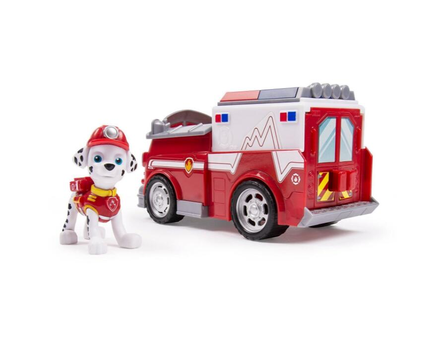 Genuine Paw Patrol Marshall's EMT Truck Vehicle Figure Action Figure Puppy Patrol Patrulla Canina kids Juguetes Brinquedos Gift new electronic wristband patrol dogs kids paw toys patrulla canina toys puppy patrol dogs projection plastic wrist watch toys