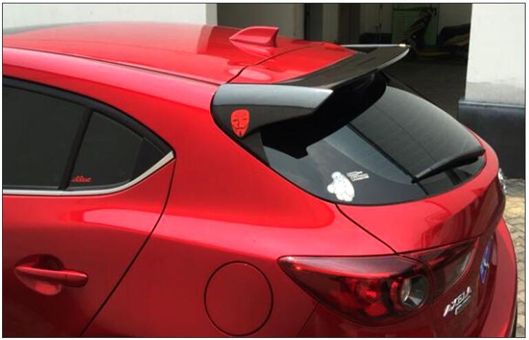 carbon fiber rear trunk lid aero wing spoiler for mazda 3. Black Bedroom Furniture Sets. Home Design Ideas