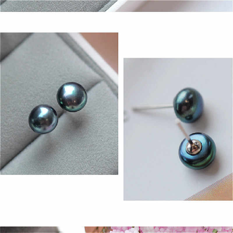 (no Packing Box)1 Pair Jewelry New Design Mysterious Ball Shape Stud Earrings For Women New Accessories Wholesale 4mm 6mm 8mm