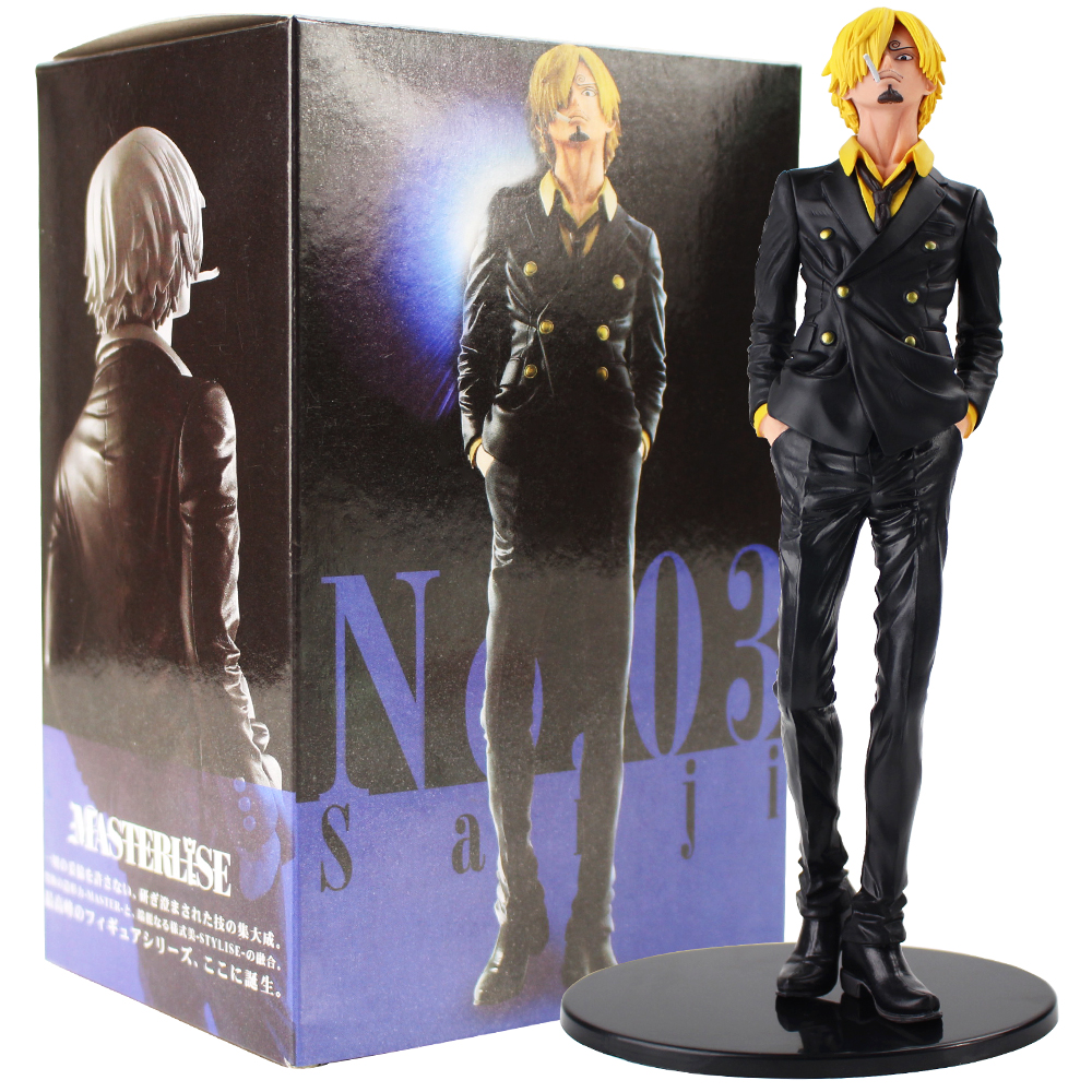 25cm <font><b>One</b></font> <font><b>Piece</b></font> Banpresto <font><b>Ichiban</b></font> <font><b>Kuji</b></font> Sanji Memory Figure Toys PVC Cartoon Model Figurine Collectible Doll Gift image