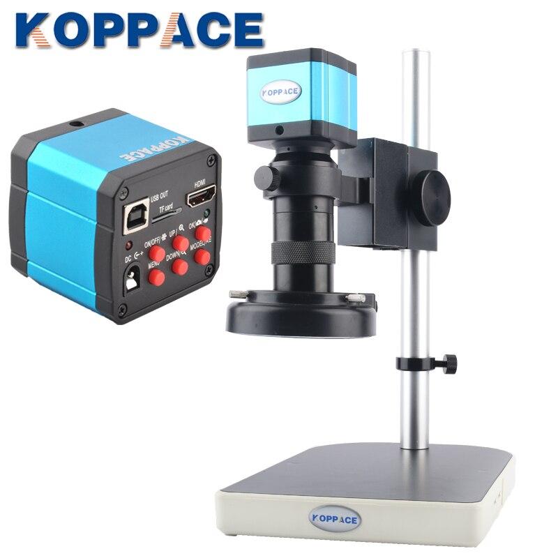 KOPPACE Mobile phone maintenance microscope 21 million pixel HDMI HD microscope Camera LED ring Light 100X