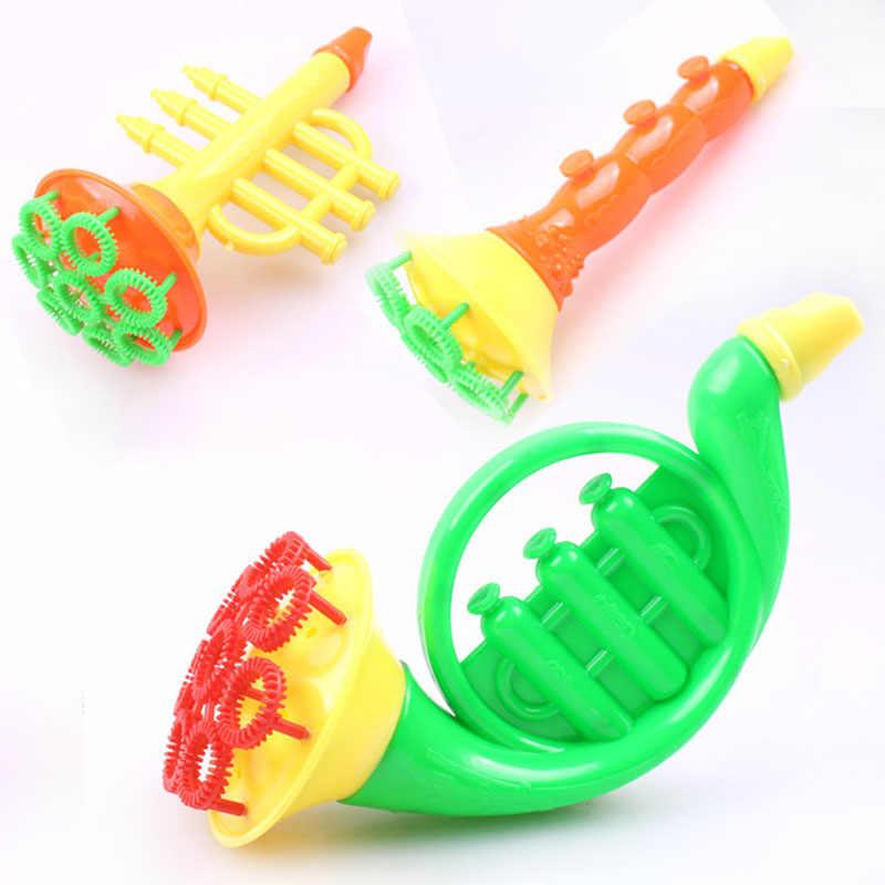 Мультфильм удар Bubble Maker игрушки для Для детей Забавный дуя пистолет для стрельбы мыльными пузырями не включают мыло воды