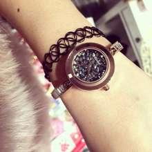 Luxurious Style Rhinestone Bracelet Watches Girls Stainless Metal Quartz Watch For Girls Costume Watch Clock Feminino Montre OP001