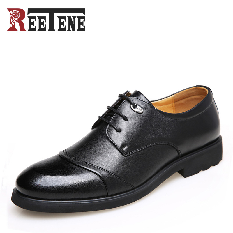 2017 Spring Autumn Men Leather Dress Shoes Soft Bottom Pointed Toe Classic Fashion Business Oxford Shoes For Male Wedding Flats 2015 new spring and autumn full for grain soft genuine leather men s british business dress pointed toe solid buckle strap shoes