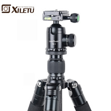 Xiletu L-284C+FB-1 Pro Stable Carbon Fiber Tripod and Ball Head Removable Mnonpod For DSLR Digital Camera Canon Nikon Sony