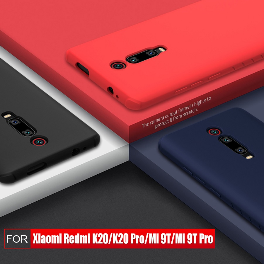 NILLKIN For xiaomi redmi k20 pro case cover Silicone Smooth Protective Back Cover for xiaomi mi 9t mi 9t pro redmi k20 case 6.39