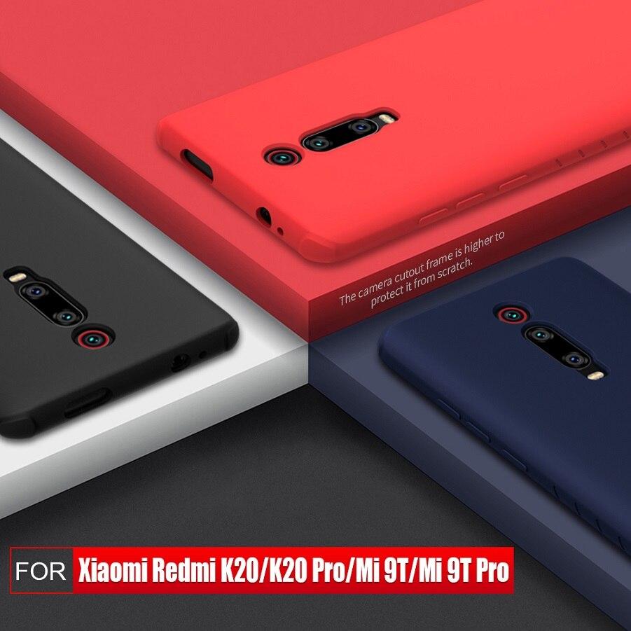 Redmi K30 case k20 NILLKIN For xiaomi Poco X2 case cover Silicone Smooth Protective Back Cover for xiaomi mi 9t mi 9t pro case