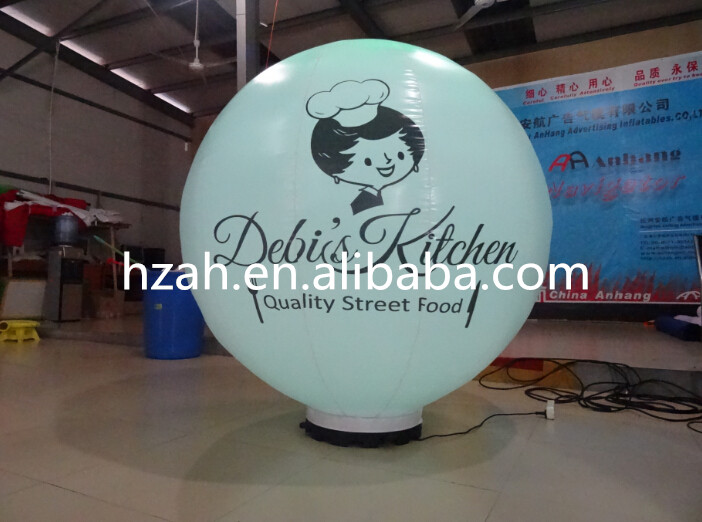 Advertising Inflatable Light Balloon for Food Car ao058d 2m advertising ad round helium balloon ball pvc helium balioon inflatable sphere sky balloon for sale
