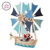Uçan Tekne Çocuklar Için Ahşap Oyuncaklar Kaptan Daniel Bebek Odası Asılı Tekne Oyuncak Peri Masalı Oyuncak Çocuklar Hediye Zanaat UQ1268H