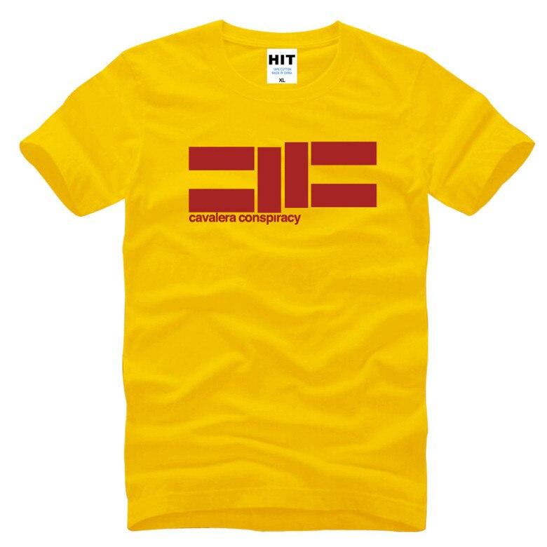 كافاليرا مؤامرة المعادن الثقيلة موسيقى الروك رجل رجل t قميص الزى 2016 جديد س الرقبة القطن عارضة قميص تي camisetas hombre