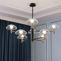 Nordic post-modern jellyfish pendant lights Minimalist luxury living dining room fashion hotel glass wrought iron pendant lamp Pendant Lights