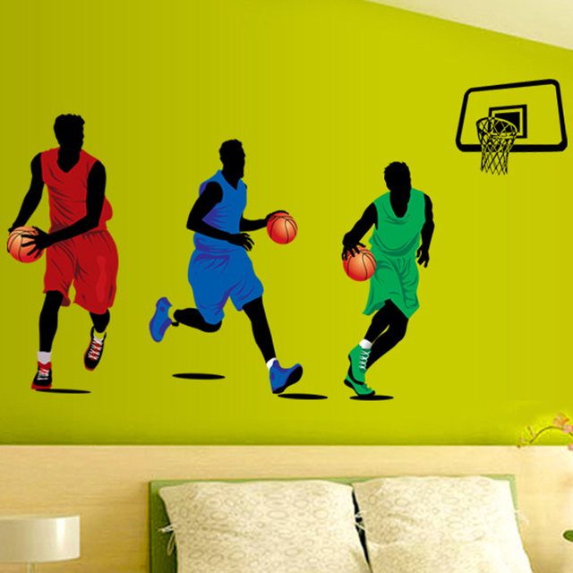 Play Basketball Wall Sticker For Kids Rooms Home Decor Basketball ...