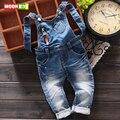 New! бесплатная доставка 2017 детская весной одежды прохладно ребенок подтяжки брюки джинсовые мягкие комбинезон