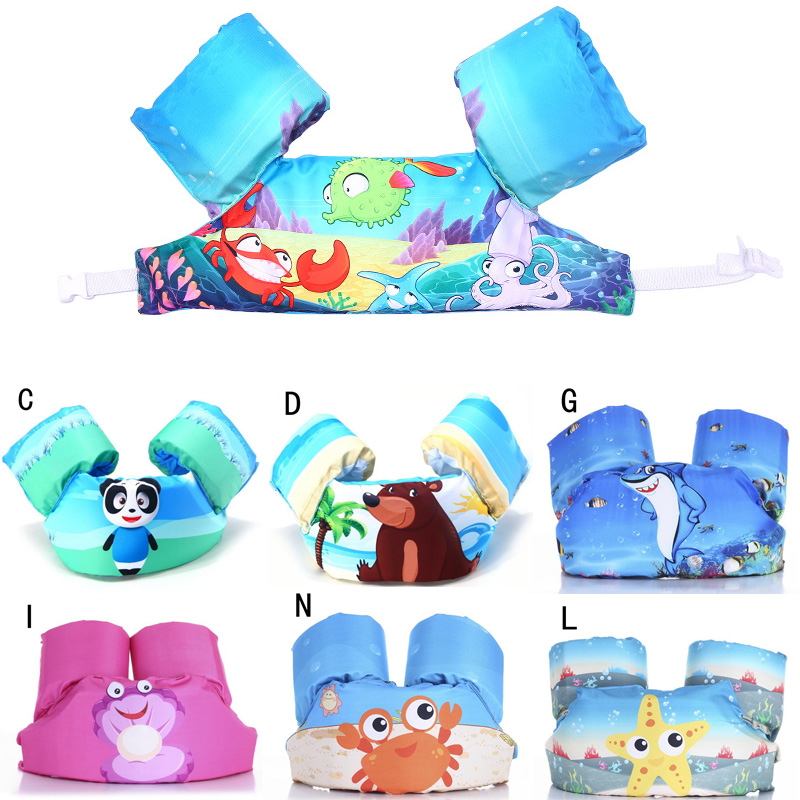 2018 New Swimming Arm Kids Life Jackets Baby Vest Floating Clothing Swim Toys