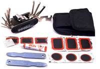 Multi Purpose Mountain Bike Bicycle Repair Set All In One Hand Tool Kit With Patch Wrench