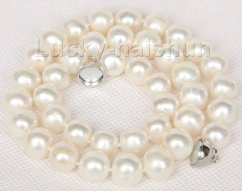 17 11mm natural white freshwater pearls necklace magnet clasp j978217 11mm natural white freshwater pearls necklace magnet clasp j9782