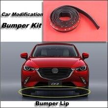 Bumper Lip For Mazda CX3 CX-3 CX 3 Akari 2015 Front Spoiler Skirt / Bumper Kit / Deflector Lips Car Scratch Proof Adhesive Strip