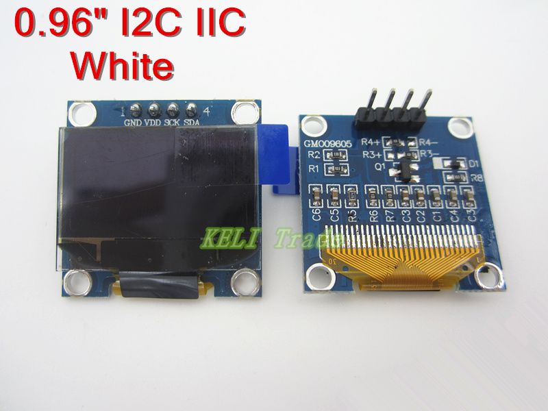 5Pcs 128X64 White OLED LCD LED Display Module 0.96 I2C IIC SPI Serial