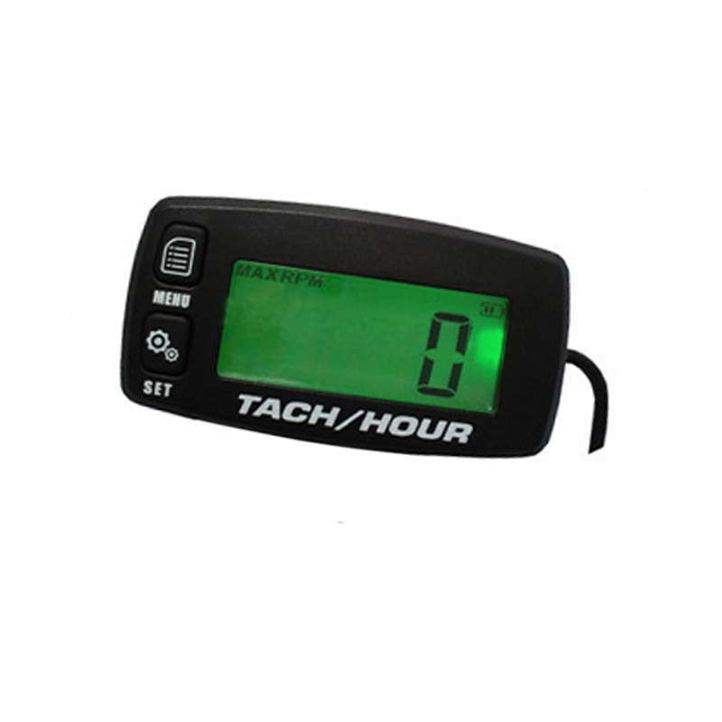 Digital Resettable Inductive Tacho Hour Meter Tachometer For Motorcycle Marine Boat ATV Snowmobile Generator Mower Free