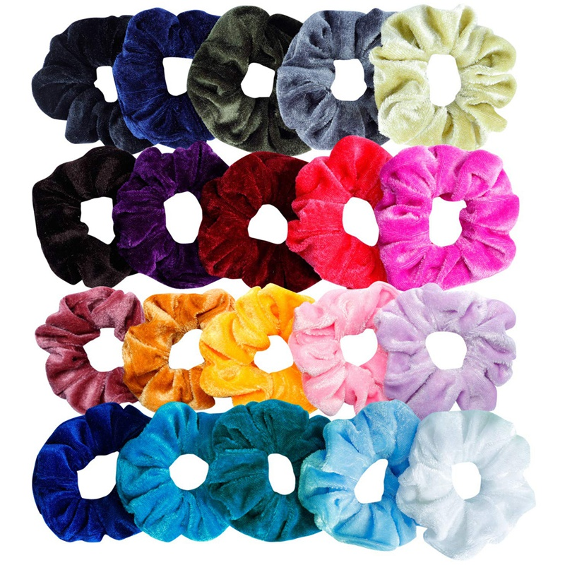 Scrunchies Hair-Accessories Elastic-Hair-Bands Girls Women Velvet 20pcs for 20-Ass Ropes
