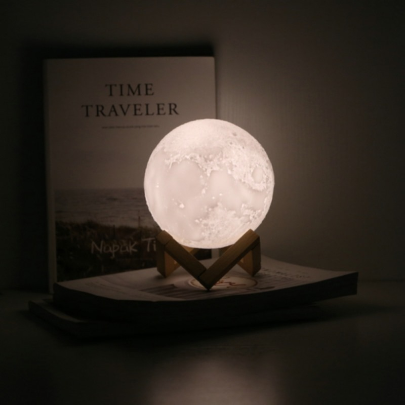 Moon Light Bussiness Gift 12CM 15cm Diameter 3D Printing Injection Moon Light # 16 Color Remote Control Touch Control gift