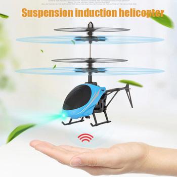 Mini LED zabawki podświetlane RC Drone latający helikopter RC samolot zawieszenie indukcja helikopter dla dzieci prezent tanie i dobre opinie AUTOPS Z tworzywa sztucznego CN (pochodzenie) 3 lat Inne Diecast Certyfikat Suspension induction helicopter Not include original box