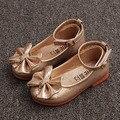 2017 Otoño Niños Niñas Ballet Shoes Zapato con Cierre de Pisos con Nudo Del Arco de La Princesa de Los Niños Zapatos de Niños Zapatos de Las Muchachas Primero caminantes