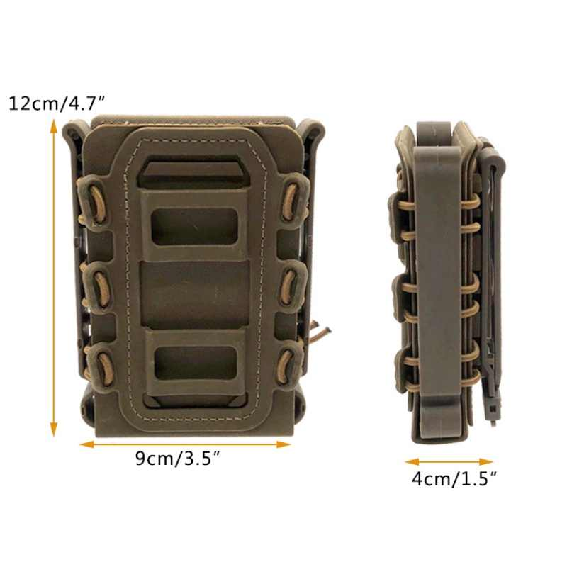Ajustable Strap Outdoor Molle Tactical Single Rifle Mag Pouch Magazine Pouch suit for 5.56mm/7.62mm bullet