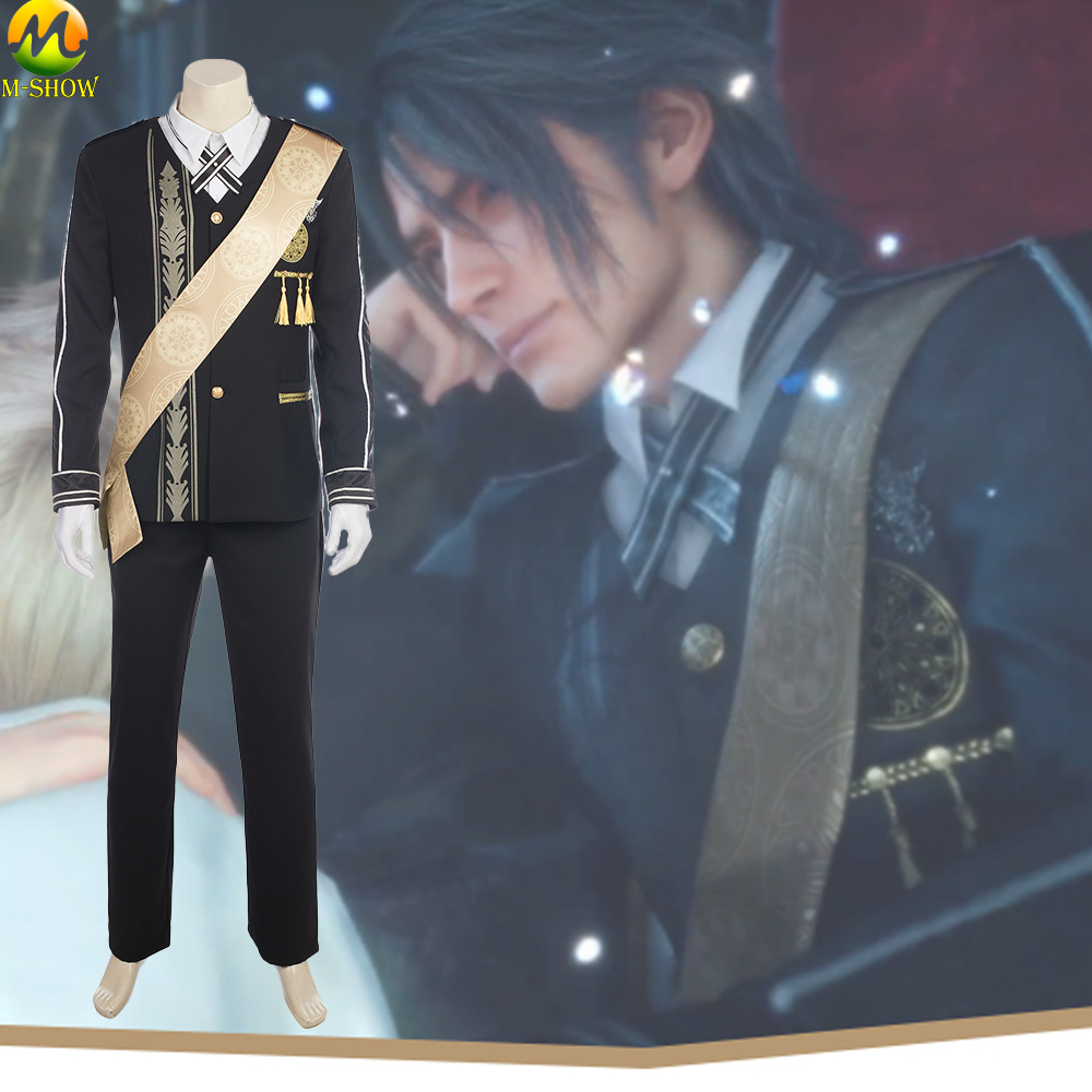 Final Fantasy XV Prince Cosplay Costume Noctis Lucis Caelum Costume Halloween Prince Suit Outfit Full Set Custom Made