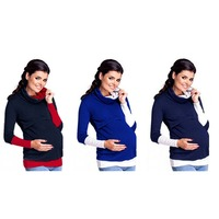Easy Breast Feeding Maternity Pregnant Autumn Mother Tops Jumper Women Mommy Nuring Hoodies Style Pullover Warm