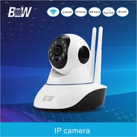 BW Hot Selling Dual Antenna CCTV IP Camera Remote Control Night Vision P2P With Alarm Security