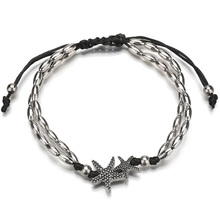 Ocean beach holiday bullet chain Starfish Anklet