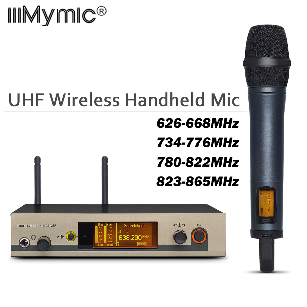 True Diversity 335 G3 UHF Grade A Perfect Sound Cordless Microphone System & Handheld Wireless Mic + Clip for Professional Show-in Microphones from Consumer Electronics    1
