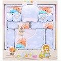 2016 novo conjunto de roupas de bebê recém-nascido presente 100% algodão caráter infantil roupas ternos 17 peças conjunto presente do bebê lua cheia