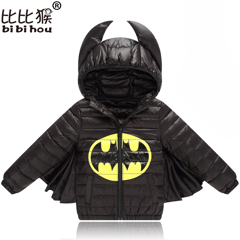 Baby Boys Girls Jacket Autmn Autumn Winter Warm Down Coat Jacket Batman Outerwear Coat Christmas Children Kids Clothes Halloween(China)