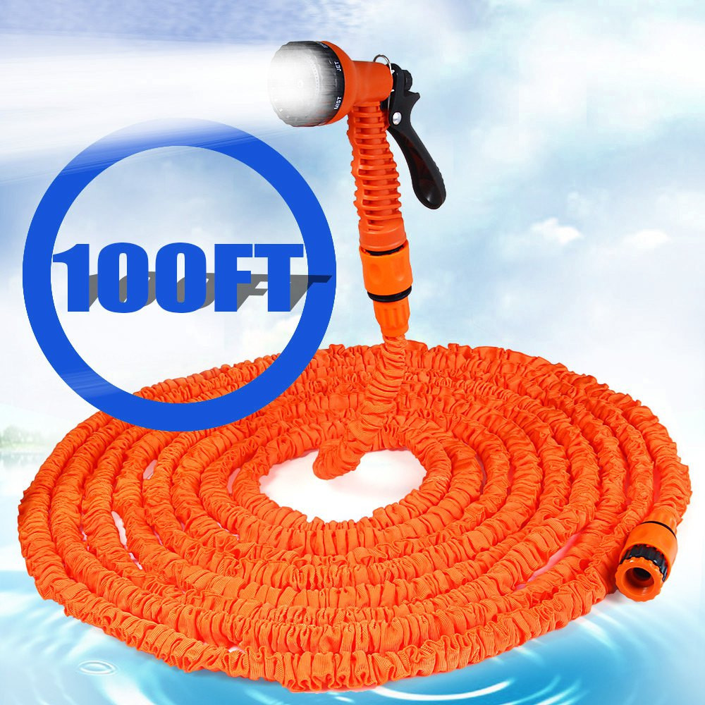100ft 75FT 50FT 25FT Expandable Magic Flexible Hose Water For Garden Car  Pipe Plastic Hoses To