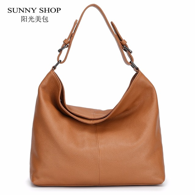 100 Luxury Genuine Leather Bags For Women Full Grain Shoulder Soft Real Original