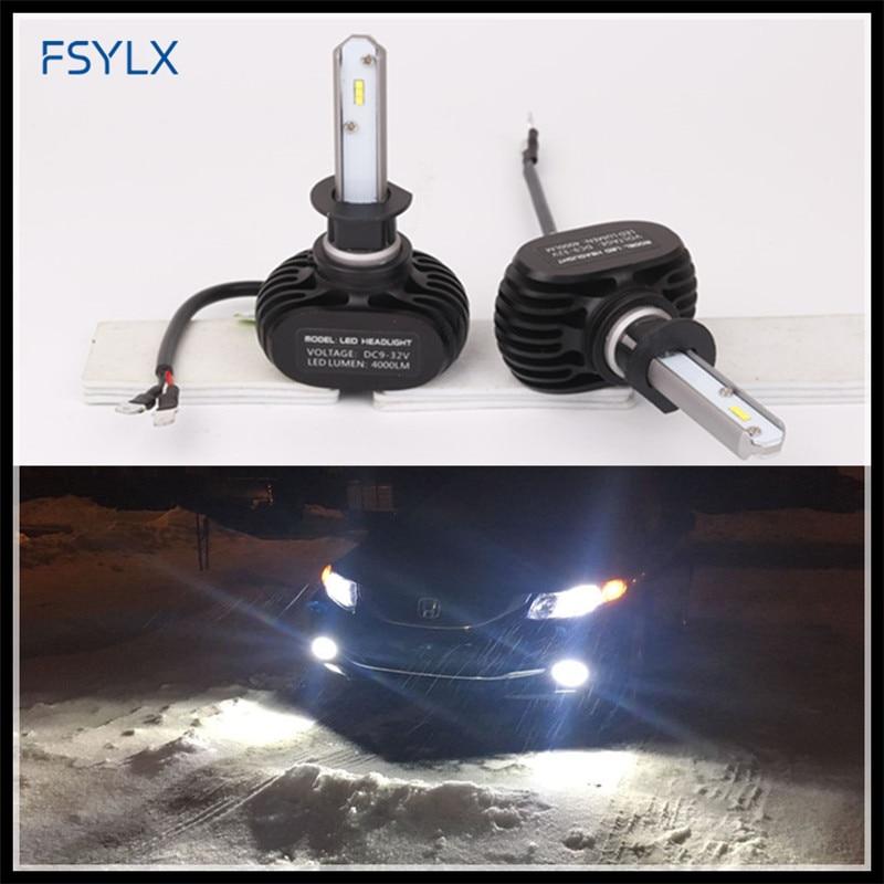 FSYLX CSP Voiture LED Phares H1 H3 H7 H8 H9 H10 H11 9005 9006 H16 5202 PSX24 P13W lampe frontale à LED phares antibrouillard H1 H3 LED Phares