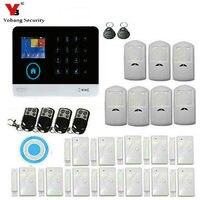 YoBang Wi fi Sem Fio de Segurança Em Casa Sistema de Alerta de Segurança Suporta IOS Aplicativo para Android Controle Remoto Teclado de Toque de Alarme. Kits de sistema de alarme     -