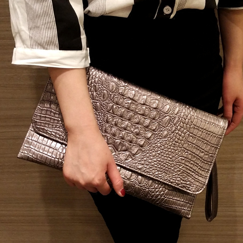 Fashion Clutch 2018 Crocodile Pattern Bao Bao Messenger Bag Evening Bag Genuine Leather Handbag White Shop Online Top Handtasche