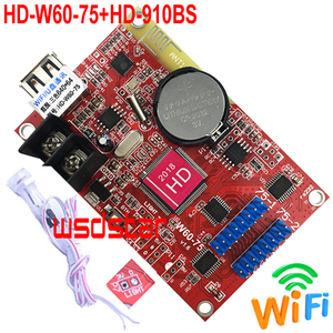 Image 1 - HD W60 75 + HD 910BS Helligkeit Sensor 640*64 2 * HUB75 daten interface Lintel RGB farbe P10 led anzeige WIFI steuer karte
