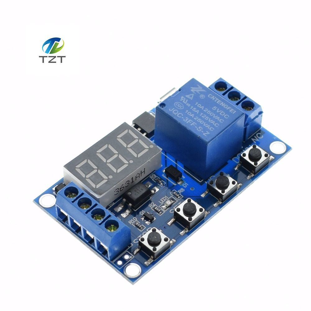 Ne555 Timer Switch Adjustable Module Time Delay Relay Dc 12v Circuit Diagram Together With Arduino On To Ac 1 Channel 5v Trigger Off Timing Cycle