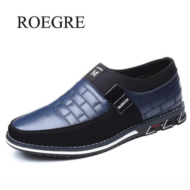 2019 г. Новые мужские кожаные туфли-оксфорды больших размеров 38-48 модные повседневные модельные туфли без застежки для формальных и деловых в...