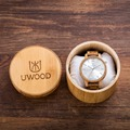 UWOOD New Arrival Oak Wood Watches Mens Business WristWatches Top Brand Luxury Wooden Quartz Watches Analog with Bamboo Gift Box