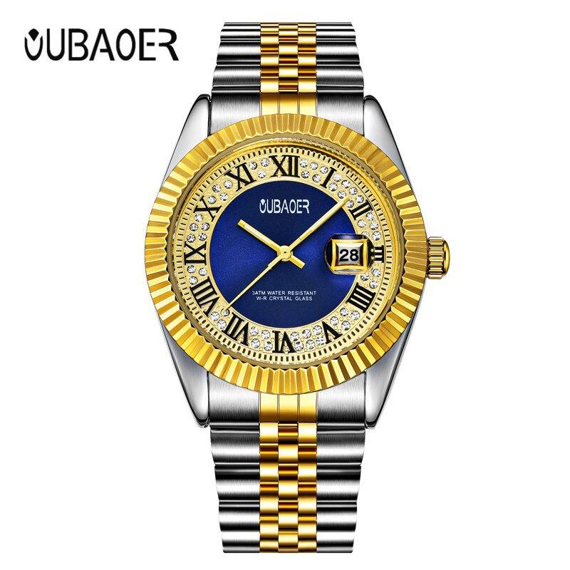 New Luxury Brand OUBAOER Men Watches Clock Male Waterproof Casual Sport Watch Men Wrist Quartz Watch Relojes Hombre все цены