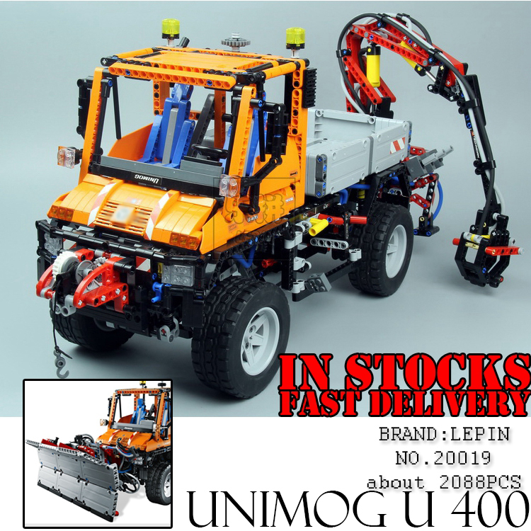 Lepin 20019 Technic 2088Pcs Unimog U 400 building bricks blocks Toys for children boys Game Model Car Compatible with Bela 8110