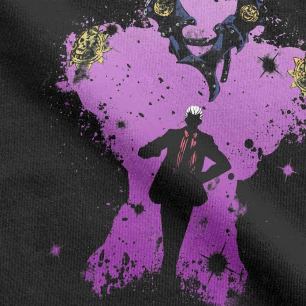 Yoshikage Кира кусать пыль Jojo невероятное приключение Для мужчин футболки с рисунком из Аниме Манга Kujo футболки для девочек короткий рукав Футболка натуральный хлопок топы